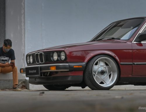 BMW 318i 1986 SENTIMENTIL  – With Old School Deep Dish Remotec